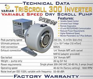 New Agilent Varian Triscroll 300 Inverter Dry Scroll