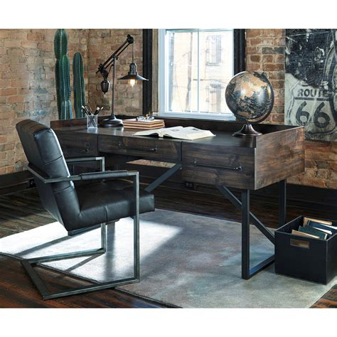 industrial style home office desk modern rustic industrial home office desk with steel base