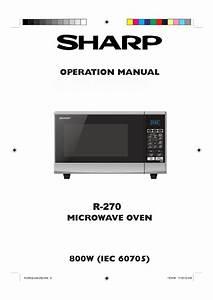 Sharp R270slm User Manual