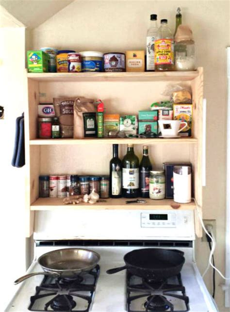 Spice Rack Stove by Diy Above Stove Shelf
