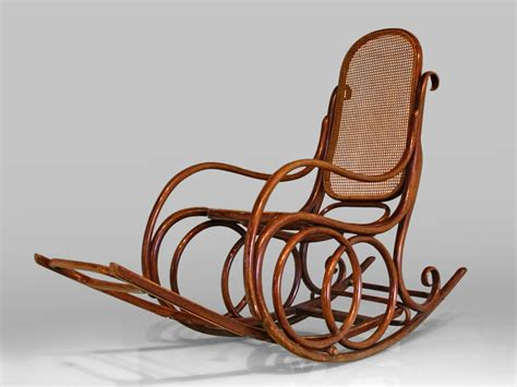 living room brown antique rattan rocking chair with