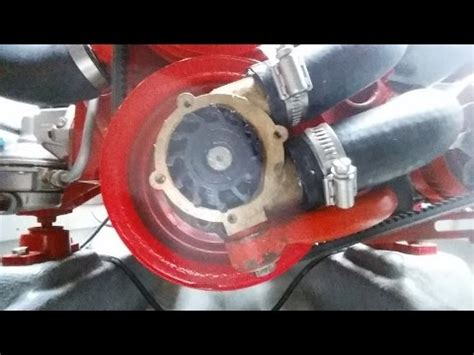 volvo penta aqa sea water pump impeller replacement