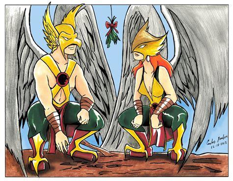 Hawkman And Hawkgirl Mistletoe!!!! By Wibbitguy On Deviantart