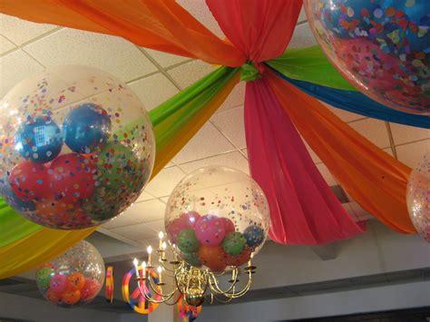ceiling decor  balloons filled  confetti balloon
