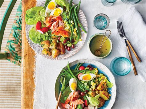 cuisine nicoise summer salmon niçoise salad recipe cooking light