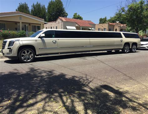 For Sale Used by 2015 White Axle Cadillac Escalade Stretch Limousine