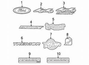 Ford Ranger Tailgate Emblem  Flareside  Tail Gate  4x4
