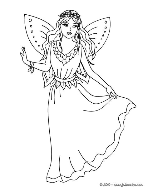 coloriages dessin d une fee 224 colorier fr hellokids