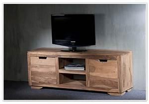 Meuble Tv Hifi : meuble tv 2 portes 2 niches naturel saka palissandre naturel ~ Teatrodelosmanantiales.com Idées de Décoration