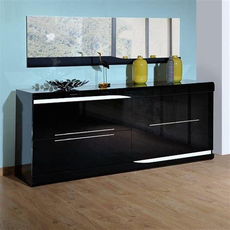 ovio black gloss sideboard  led lights sideboards