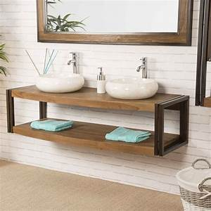 table basse bois et metal design 14 wanda collection With meuble salle de bain metal et bois
