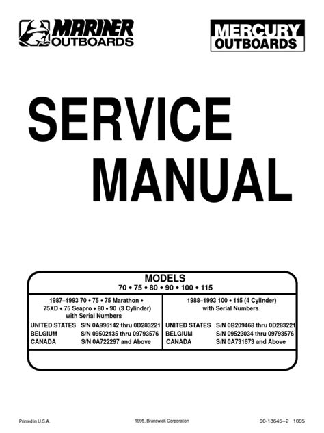 small engine repair manuals free download 1987 mercury topaz transmission control outboard manual 70 75 80 90 100 115 ignition system internal combustion engine