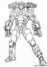 War Coloring Machine sketch template
