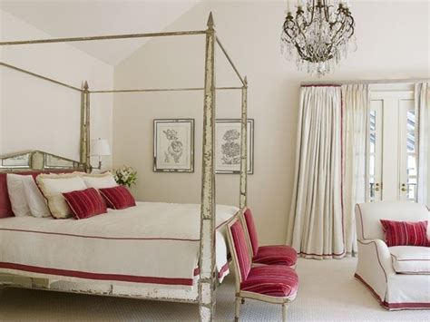 shabby chic four poster bed a shabby chic four poster bed meets contemporary glamour with a pop of red dreamy bedrooms