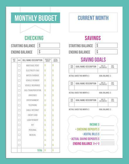 Budgeting Worksheets On Pinterest  Budgeting Tips, Monthly Budget Worksheets And Monthly Budget
