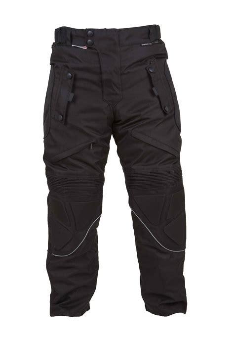 motorcycle pants tmw ce armoured black waterproof cordura motorcycle
