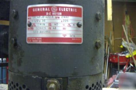 hydraulic pump  volt dc general electric motor  p