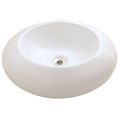home depot white vessel sink polaris sinks porcelain vessel sink in white p033v w the