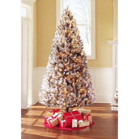 artificial christmas trees at wal mart time pre lit 7 5 winter artificial tree clear lights walmart