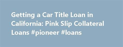 17 Best Ideas About Collateral Loans On Pinterest