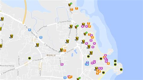 bali hotels map  worlds  hotels
