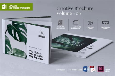 creative brochure template vol  brochure templates