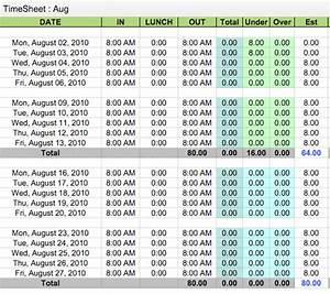 google sheet timesheet template