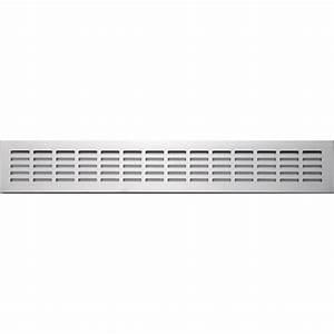 grille d39aeration aluminium anodise l50 x l8 cm leroy With porte d entrée pvc avec caniveau inox salle de bain