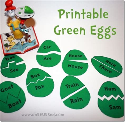 30 ideas for a dr seuss theme crafts activities and 319 | printable green eggs and ham activities