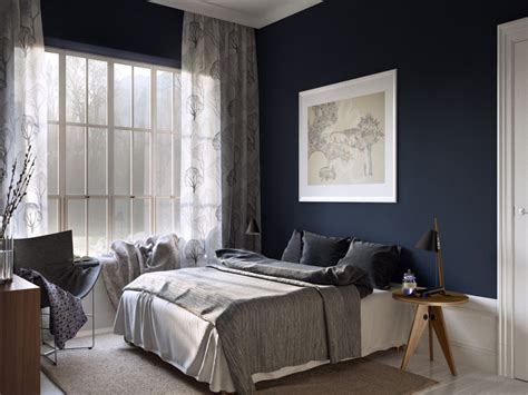Schlafzimmer Blau Streichen by Blue Painted Bedrooms Master Bedroom Inspired Blue Wall