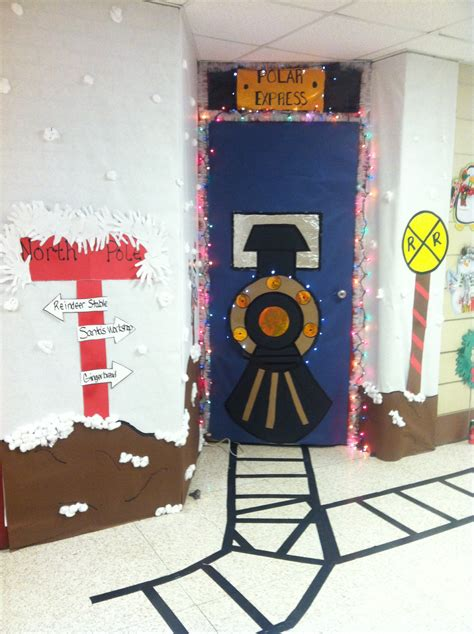 polar express door decorating ideas our class door we win our contest welcome
