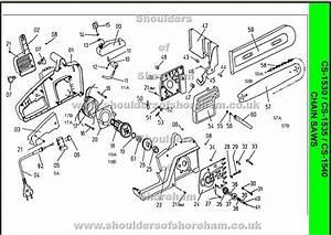 Ryobi Cs 1530 Chainsaw Spares Diagram Spares And Spare Parts