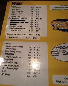 amsterdam coffeeshop weed menu 2015