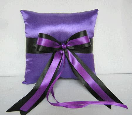 wedding accessories purple black ring bearer pillow your colors ebay