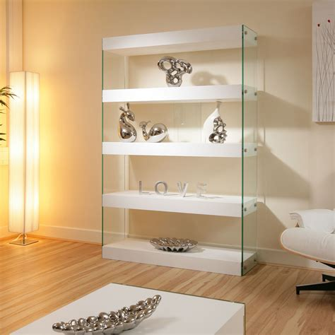 Display Cabinet Modern by Display Cabinet Shelving Unit Shelves White Gloss