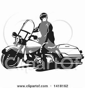 Clipart Illustration of a Group Of Silhouetted Male ...