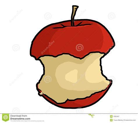 Apple Core Illustration stock illustration. Illustration ...