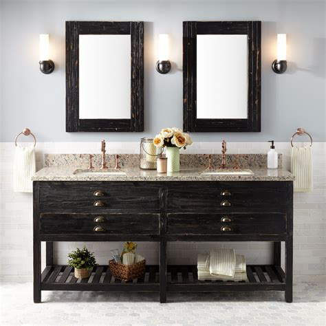 72quot benoist reclaimed wood console double vanity for