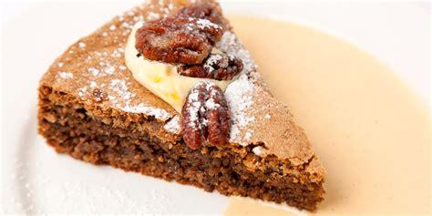 walnut cake recipe  pecans  cream great british chefs