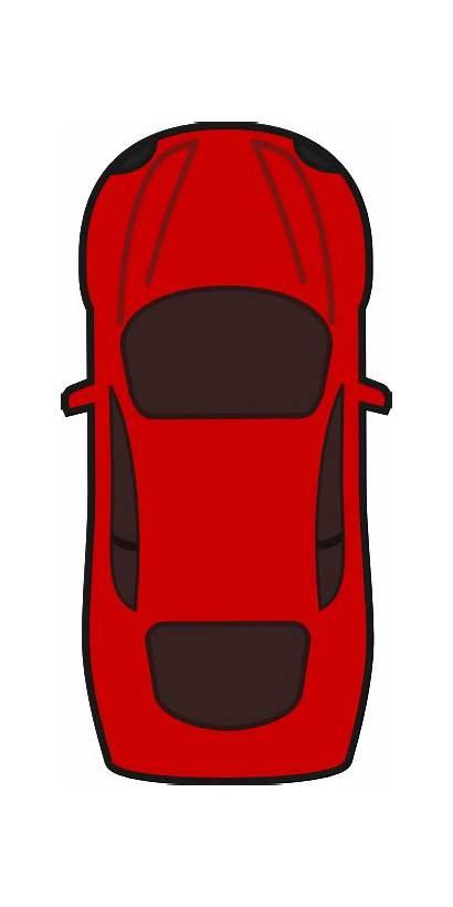 Clipart Cartoon Clip Sports Cliparts Cars Topview