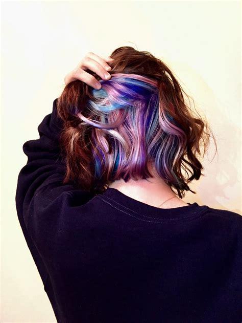 peekaboo pastel unicorn hair hairstyles peekaboo