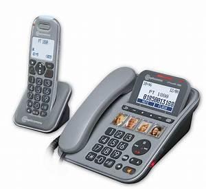Combiné Téléphone Fixe : t l phone fixe grosses touches pour malentendant power tel 1880 ~ Medecine-chirurgie-esthetiques.com Avis de Voitures