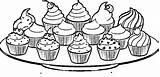 Coloring Cupcake Cupcakes Plate Colouring Cakes Ausmalbilder Shopkins Lebensmittel Wecoloringpage Malvorlagen Kuchen Zum Cup Ice Drawing Drawings Ausdrucken Drucken Zeichnung sketch template