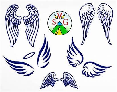 Angel Cricut Wings Svg Clipart Cut Heaven