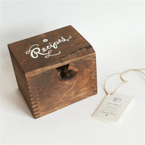 wooden recipe card box plans woodworking projects plans