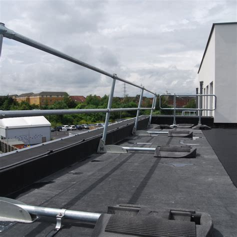 free standing roof edge protection guardrail ipm fittings ltd