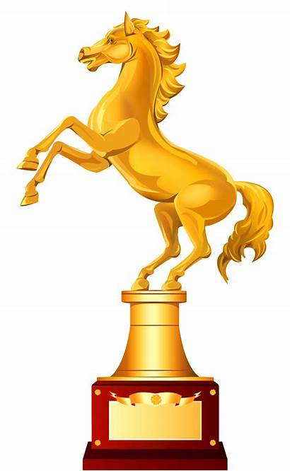 Trophy Horse Clipart Golden Clip Animated Medals