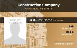 5 Best Construction Workers Photo Id Badges