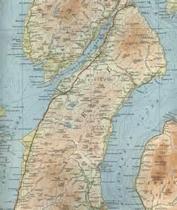 Kintyre Scotland Map