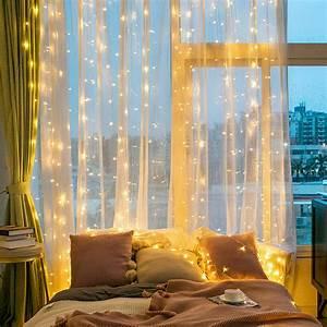 9ft, X, 9ft, 300, Led, Curtain, Lights, Window, Curtain, String, Light, Curtain, Fairy, Lights, For, Room